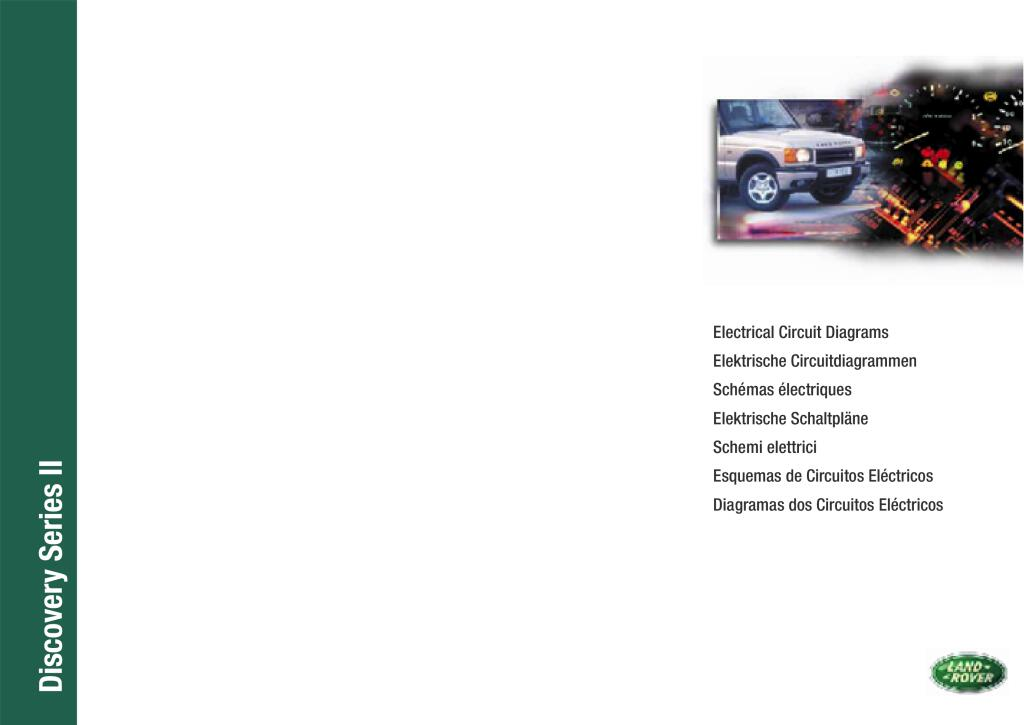 2001 Discovery Series Ii Electrics Diagrams Pdf  3 39 Mb